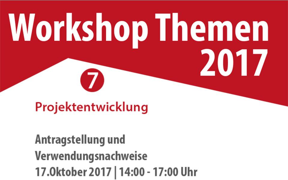 Workshop Projektentwicklung im Oktober