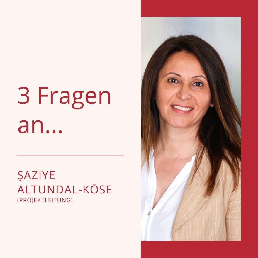 3 Fragen an… Şaziye Altundal-Köse, Projektleitung HoR Dortmund