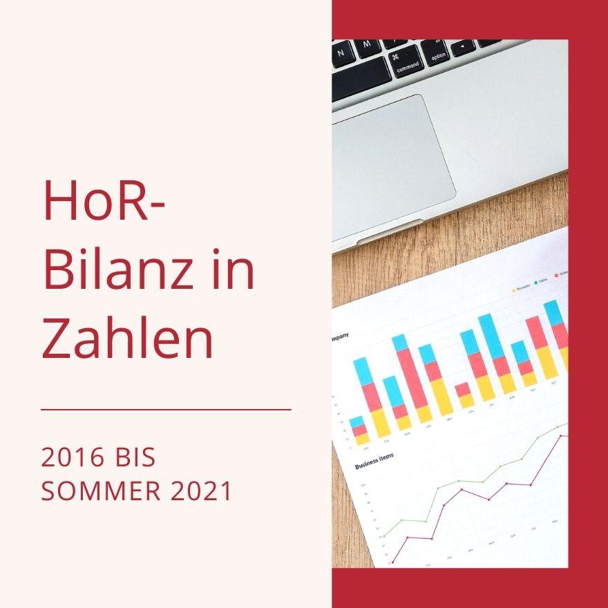 Die HoR-Bilanz in Zahlen – von 2016 bis Sommer 2021